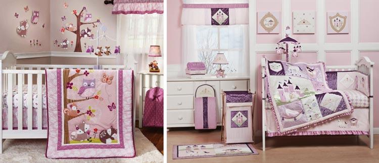 تزیینات اتاق نوزاد با رنگ بنفش