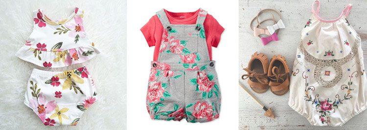 مدل لباس دخترانه گلدار