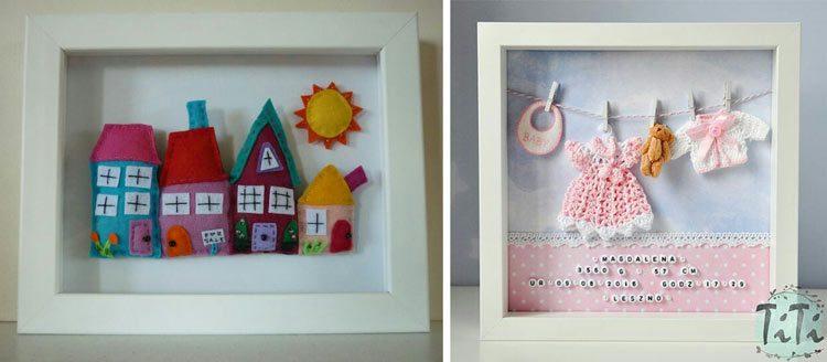 تابلو نمدی با طرح منظره برای سیسمونی اتاق نوزاد