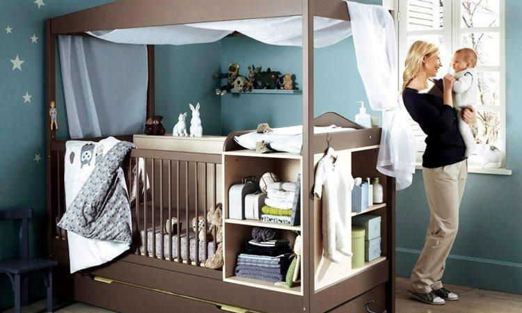 استفاده از تخت چند منظوره برای اتاق کوچک کودک