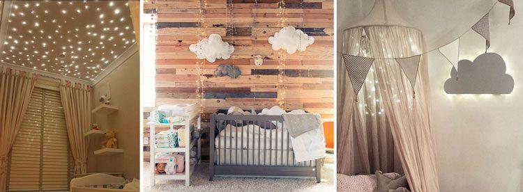 استفاده از ریسه های نوری برای تزئین اتاق کودک