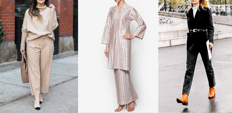 مدل لباس تک رنگ برای افراد قد کوتاه