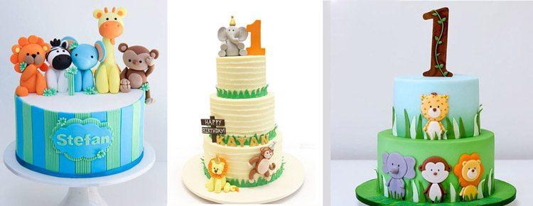 کیک تولد با تم باغ وحش
