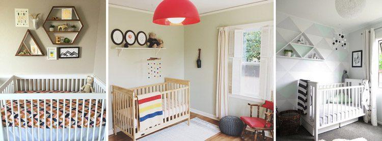 استفاده از طاقچه های دیواری برای تزئین دیوار نوزاد