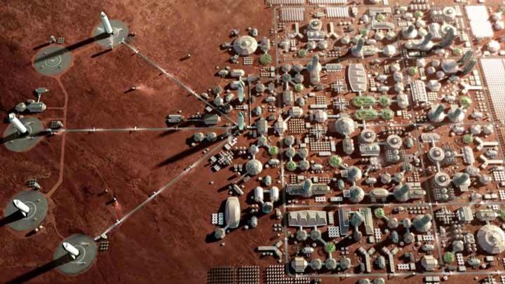 شرکت فضایی خصوصی اسپیس ایکس قصد دارد که با بهره بردن از ناوگانی از فضاپیماها و موشکها، کلان شهری را در مریخ بسازد