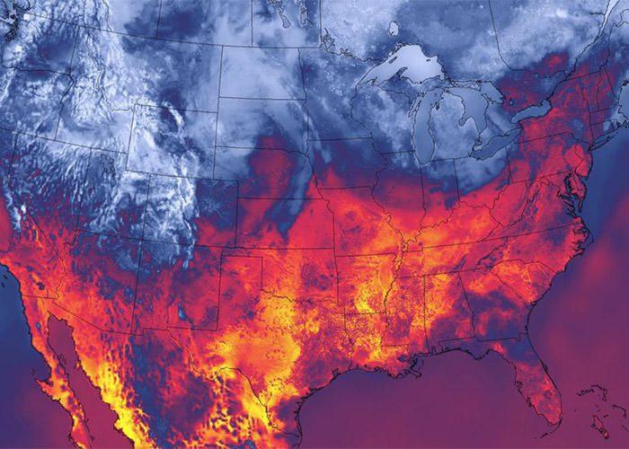 دمای سطحی آمریکا ۳۰ سپتامبر ۲۰۱۴