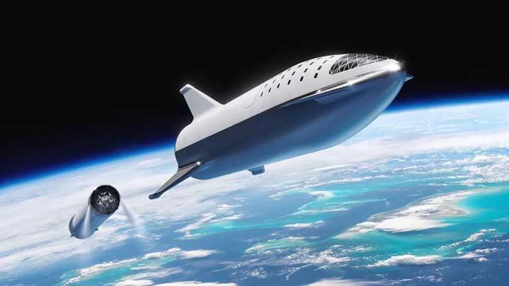 رندر هنری از موشک BFR