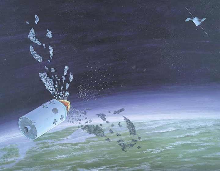 تصویر مفهومی از یک سلاح ضد ماهوارهای شوروی