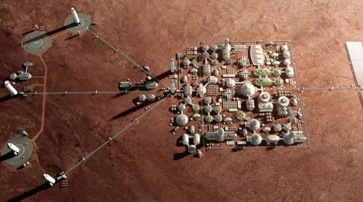 پایگاه دائمی در مریخ