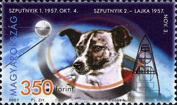 تمبرهای لایکا سگ فضانورد