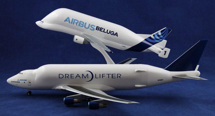 boeing dreamlifter - airbus bluga