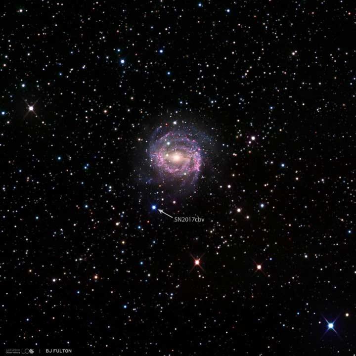 ابرنواختر  SN 2017cbv