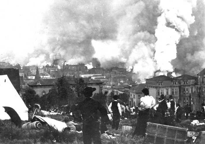 آتشسوزی ناشی از زلزله، ۱۸ آوریل سال ۱۹۰۶ سانفرانسیسکو