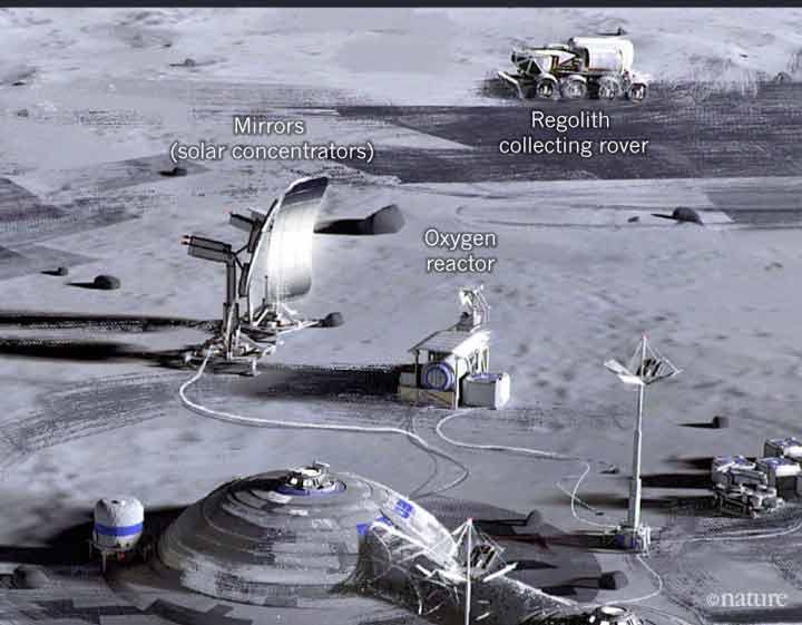 اکسیژن در خاک ماه