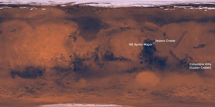 سه محل مناسب فرود ماموریت مریخنورد 2020 ناسا