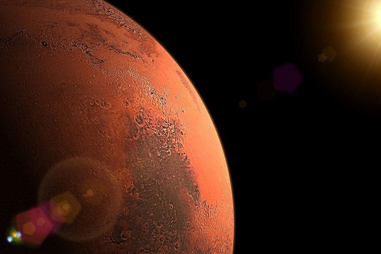 دریاچه روی سطح مریخ