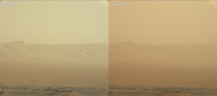 طوفان شن  مریخ