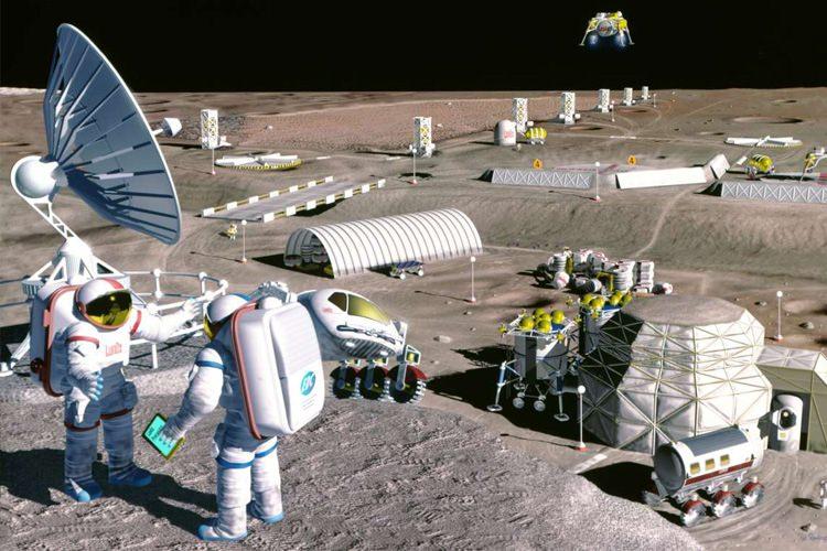 کلونی سازی در ماه