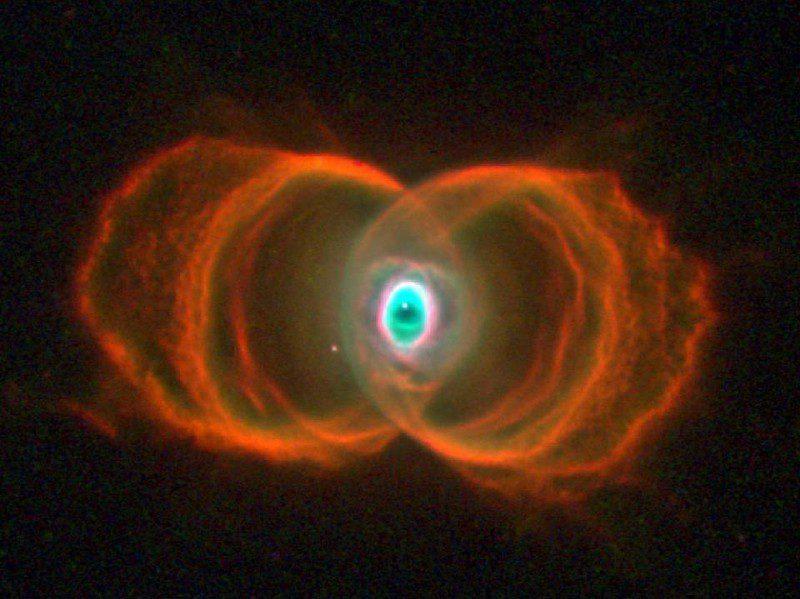 نیتروژن، هیدروژن و امسیژن هایلایت شده در یک سحابی سیاره نما