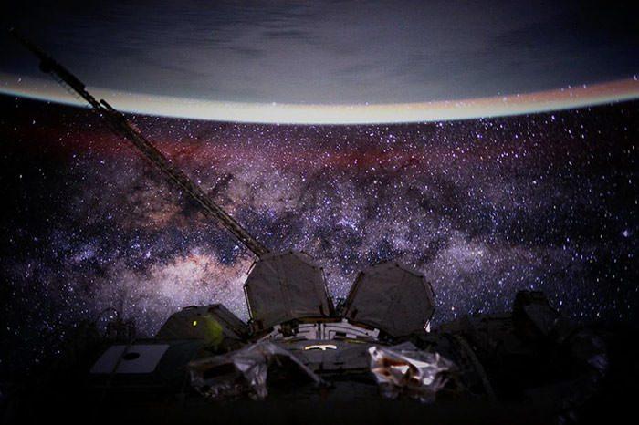 اسکات کلی و ثبت تصاویری تماشایی از زمین