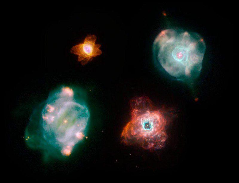 چهار سحابی سیاره نما مجزا