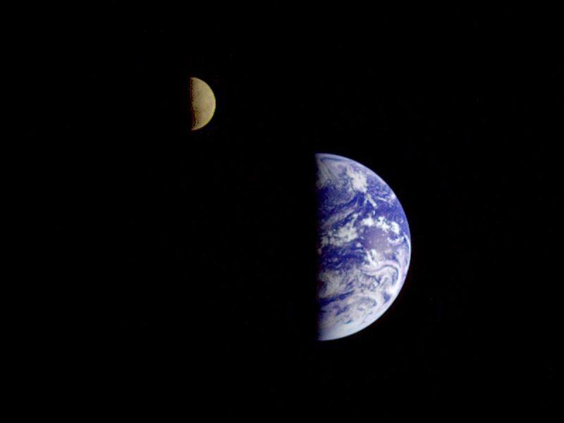 تصویر زمین توسط گالیله