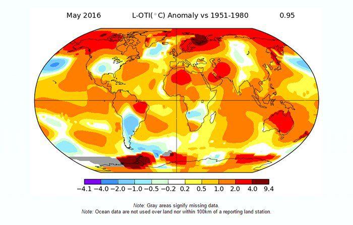 داده های دمای ناسا
