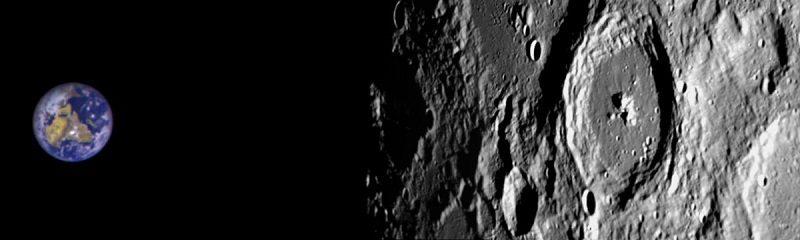 تصویر زمین و ماه