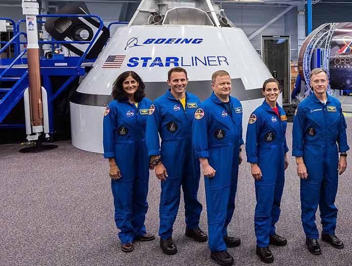 فضانوردان برگزیده دو مأموریت ابتدایی شرکت بوئینگ