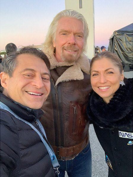 Richard Branson with Anousheh Ansari