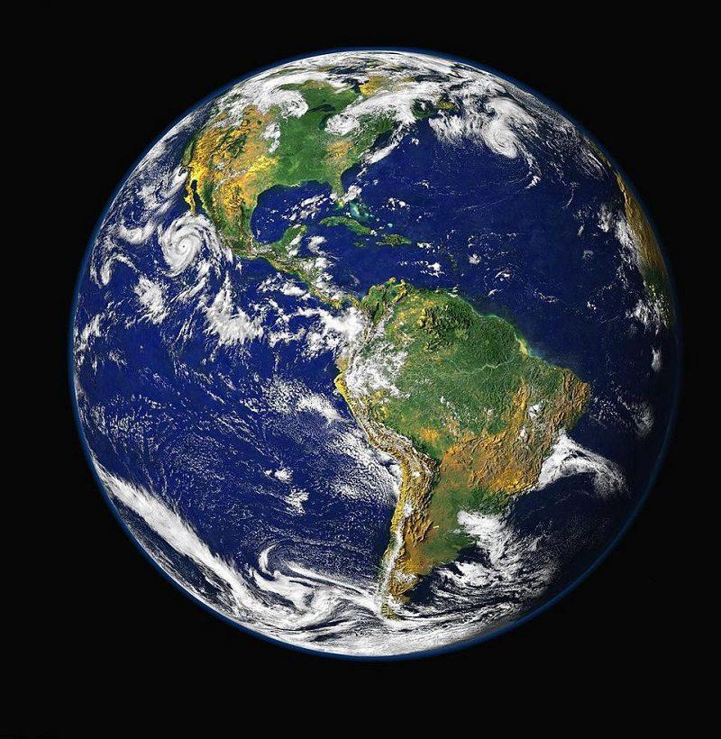 تصویر نیمکره شمالی زمین