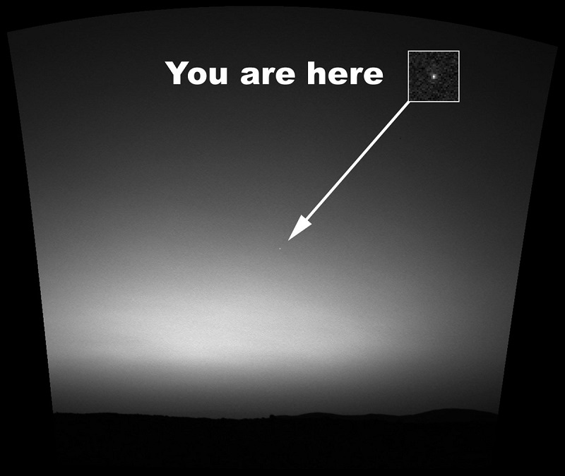تصویر زمین توسط مریخ نورد