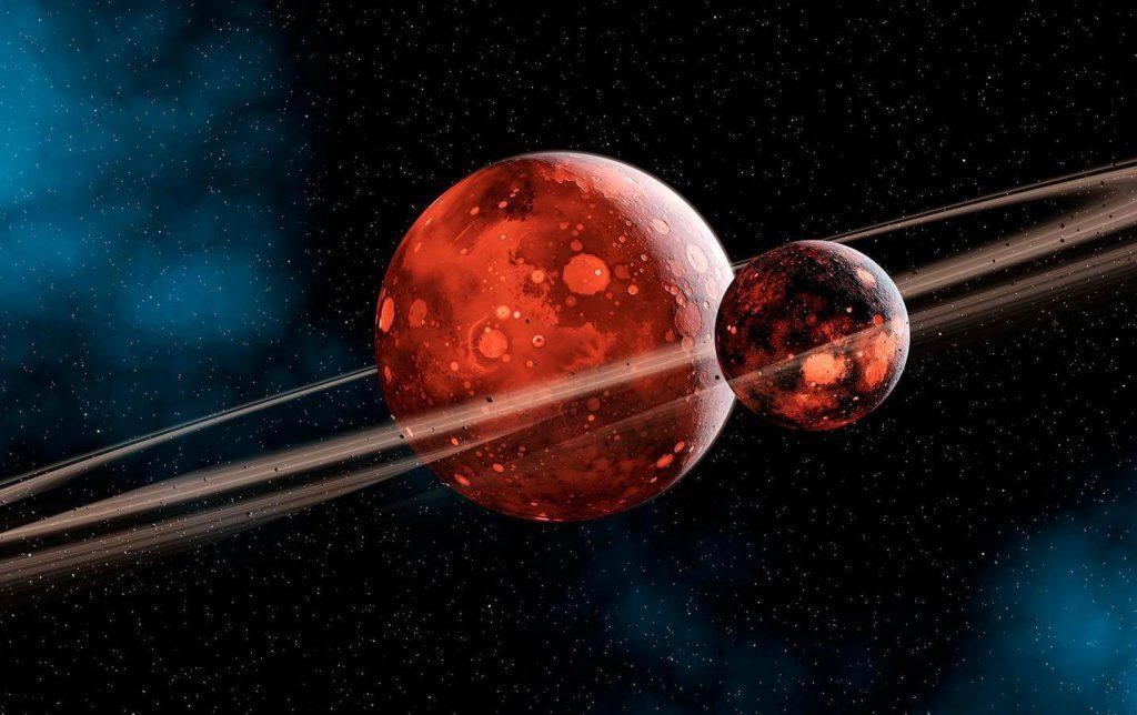 شکل گیری زمین و ماه