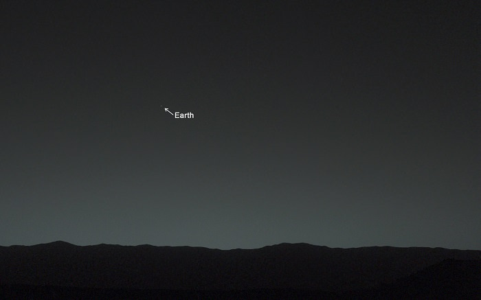 mars rover curiosity earth photo