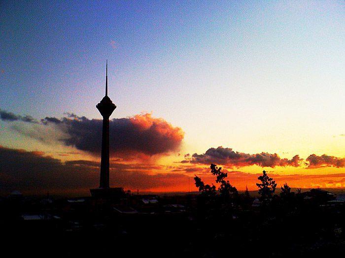 غروب خورشید در ایران