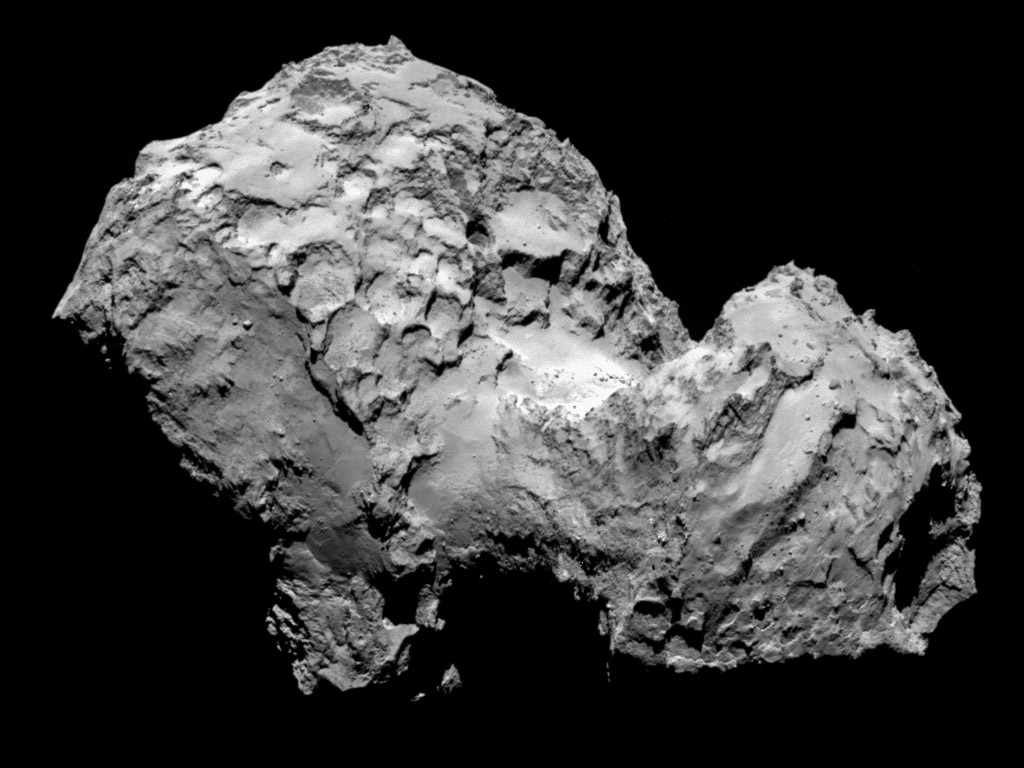Rosetta OSIRIS NAC comet 67P 20140803