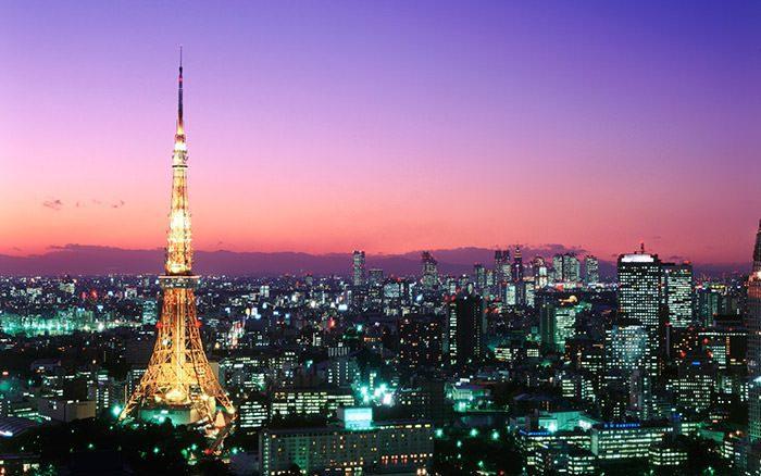 غروب خورشید در توکیو