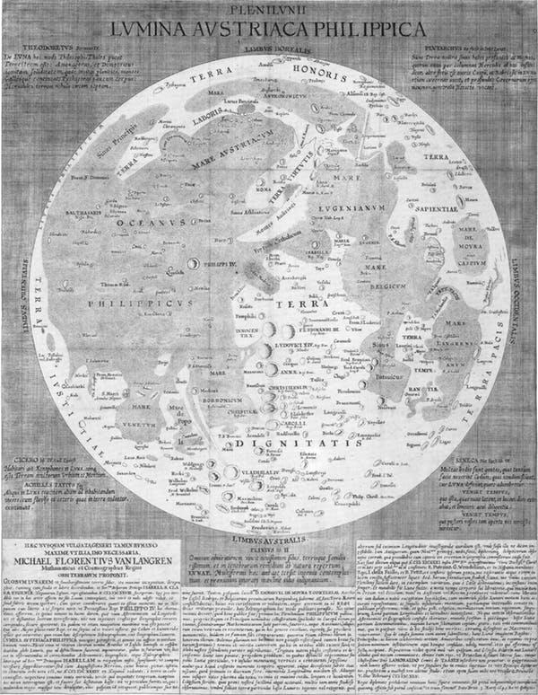 نقشه قدیمی ماه