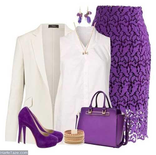 هارمونی رنگ بنفش و سفید+جذاب ترین هارمونی
