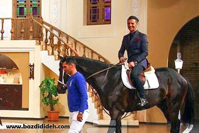 ورود حیایی با اسب به برنامه دورهمی