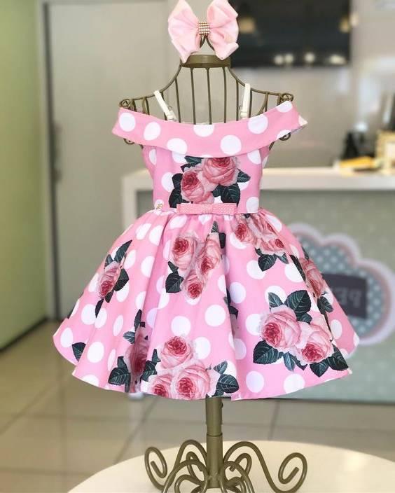 لباس گلدار برای دختربچه